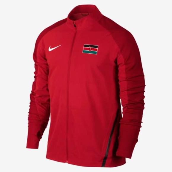 d3c090420d84 NWT Men s Nike Flex Kenya Track Jacket Size XL Red